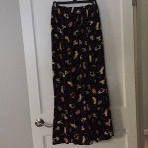 Dresses & Skirts - black print maxi, size S/M